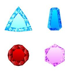 beautiful set of diamonds vector image vector image