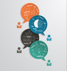 Business bubble speech with drawing diagram vector image vector image