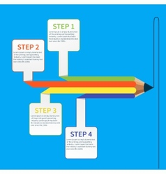 Business education pencil infographics option vector image