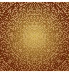 oriental brown decoration vector image vector image