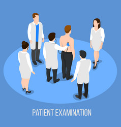 patient examination medical background vector image