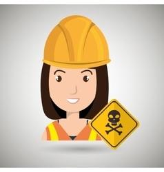 Woman worker symbol danger vector