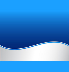 abstract stripe wave lines graphic blue and white vector image vector image
