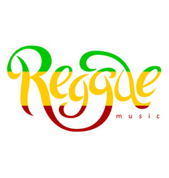 isolated lettering poster in reggae style vector image vector image