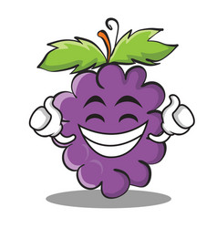 proud grape character cartoon collection vector image vector image