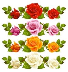 rose horizontal vignette vector image vector image