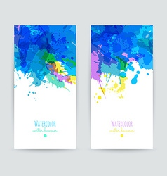 Set of two brochures vector image