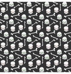 Skull seamless pattern vector image