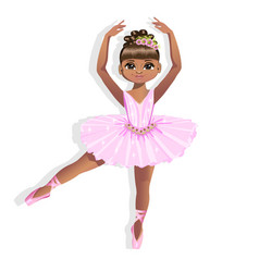 sweet little ballerina in a shiny dress vector image