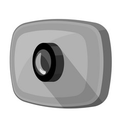 webcam icon in monochrome style isolated on white vector image vector image