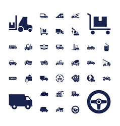 37 truck icons vector