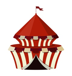 A circus on a white background vector