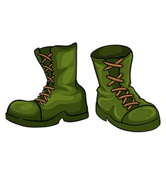 A pair of green boots vector image