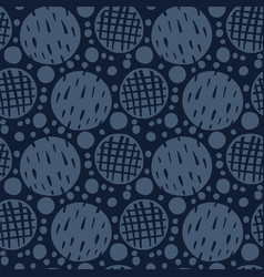 abstract indigo blue polka dots seamless vector image
