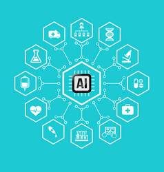 ai artificial intelligence technology for vector image