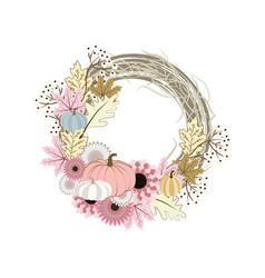 autumn wreath vector image
