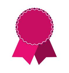 Award ribbon isolated vector