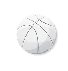 basketball white symbol vector image