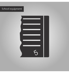 Black and white style icon of exam score excellent vector