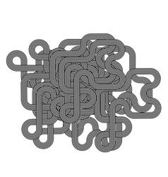 Black White Striped Line Symbol vector