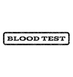 Blood test watermark stamp vector