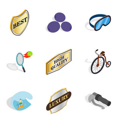 Bounty icons set isometric style vector
