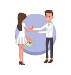 Boyfriend making proposal vector