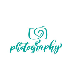camera photography logo icon template vector image