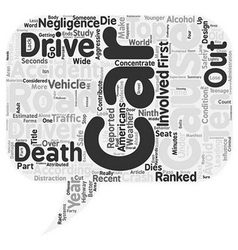 Car accidents the expressway to the next life text vector