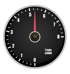 car tachometer mockup realistic style vector image