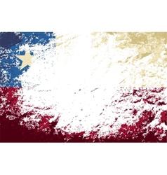 Chilean flag Grunge background vector