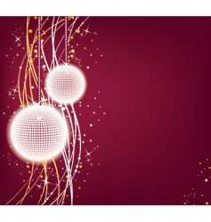 Christmas back vector image