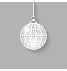 Christmas ball on gray background vector
