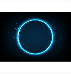 Circle technology abstract background vector