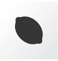 citrus icon symbol premium quality isolated lemon vector image