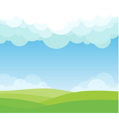 cloud lanscape background vector image