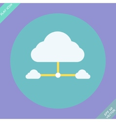Cloud network connection - vector