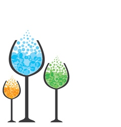 colorful drink in wine glass vector image