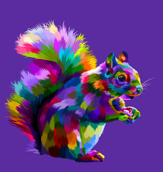 Colorful squirrel on pop art vector