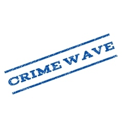 Crime Wave Watermark Stamp vector