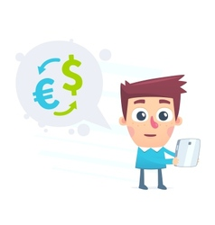 Currency conversion using the online application vector image