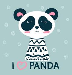 cute sleep panda vector image