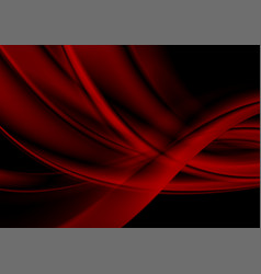 dark red abstract flowing waves background vector image