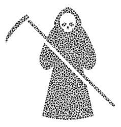 Death scytheman composition of dots vector