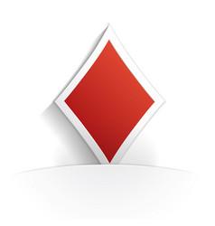 diamond icon paper vector image