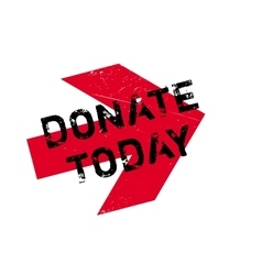 Donate today stamp vector image