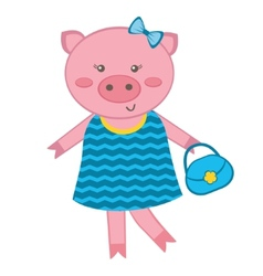 Fashionable Pig vector