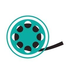 Film reel cinema movie design vector