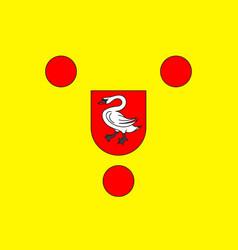 Flag of boulogne-sur-mer in pas-de-calais of vector