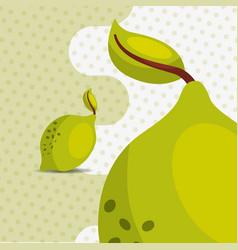 fresh fruit natural lemon on dots background vector image